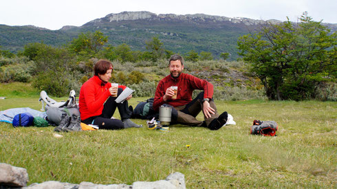 Das ist für die 3 Tage im Nationalpark der letzte Kaffee.