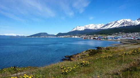 Nach dem gestrigen Schneesturm der über Ushuaia fegte ist heute wieder super Wetter.