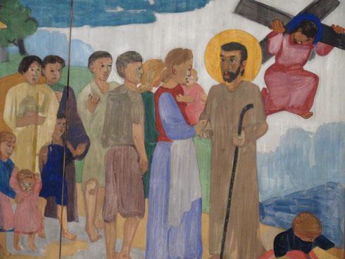 Bruder Klaus nimmt Abschied von seiner Frau Dorothea und seinen Kindern