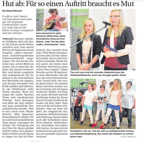 Quelle: Nordkurier-Haffzeitung vom 2.5.2014