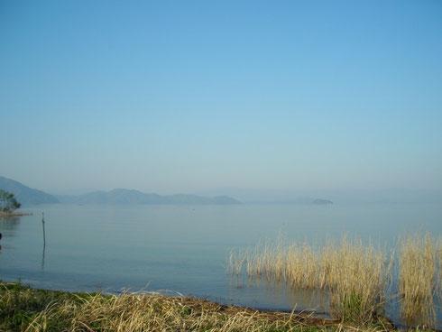 琵琶湖西岸の北(新旭)