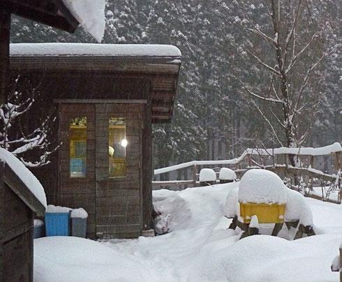 2012.12.26. PM5:00 雪の中のアトリエ