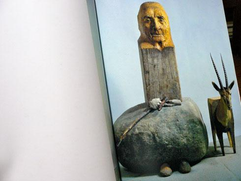 1995年 マリソル展覧会作品集より 「かもしかのいるジョージア・オキーフの肖像」  マリソル作 1980年