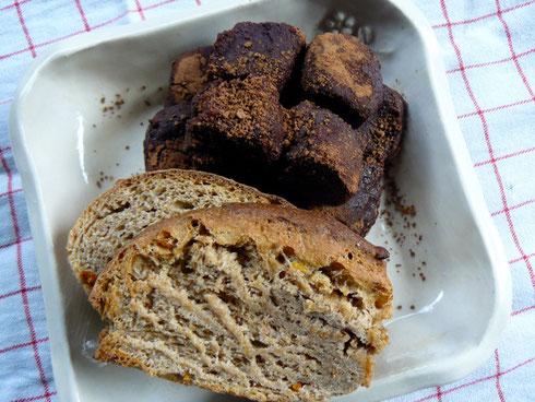 ガナッシュと天然酵母パン