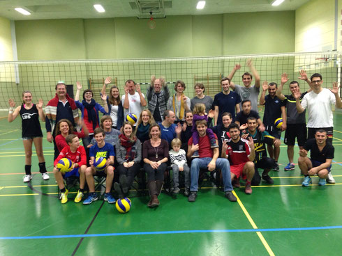 Volleyball-Abteilung des TV Eppelheim am 18.12.2015