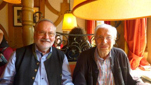 Ich freute mich sehr, dass auch Gunther aus Nürnberg zum Treffen nach Augsburg gekommen ist.