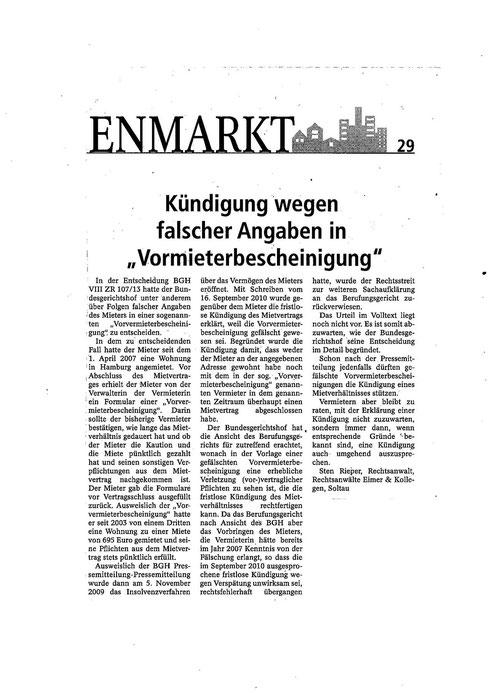 erschienen am 19.04.2014 in der Böhme-Zeitung