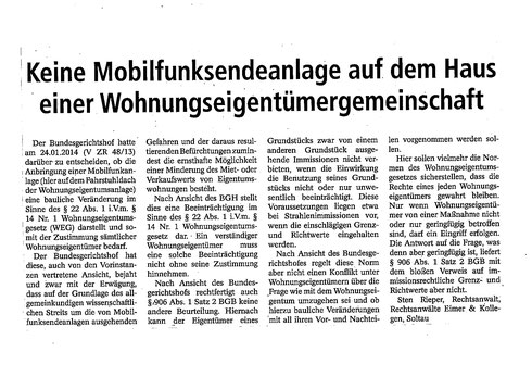 erschienen am 10.05.2014 in der Böhme-Zeitung
