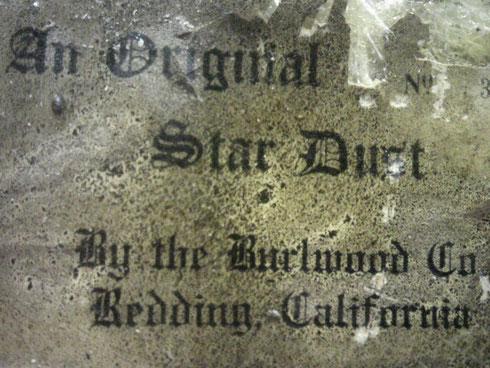 裏面スタンプ:カリフォルニア州レディング生まれのスターダスト!