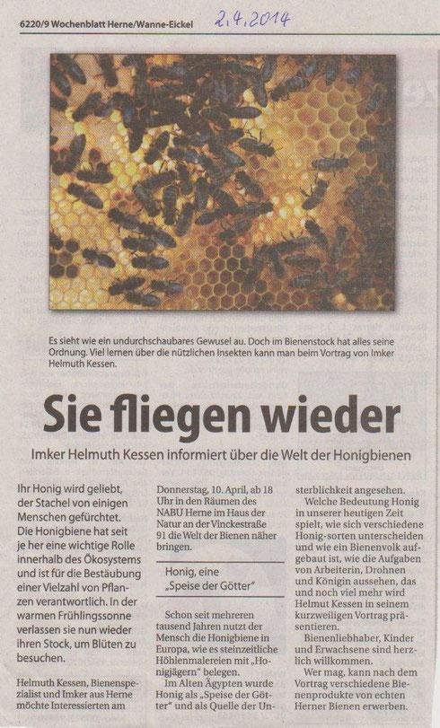 Artikel aus dem Wochenblatt Herne vom 02. April 2014