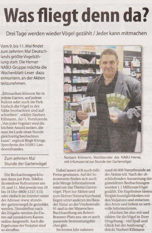 Artikel aus dem Wochenblatt Herne vom 30. April 2014