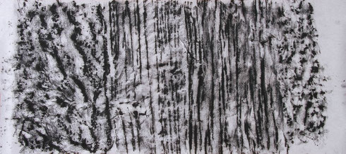 o.T. 2013 Kohle 28,2 x 63,8 cm