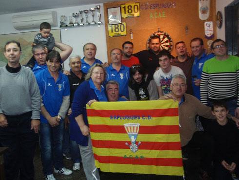 Foto del partido de casa 1ª jornada, los dos equipos