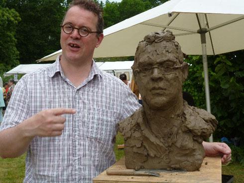Tom Doesborg, gezamenlijk portret van KOPPIG LIMBURG tijdens de Keramiekmarkt in Swalmen