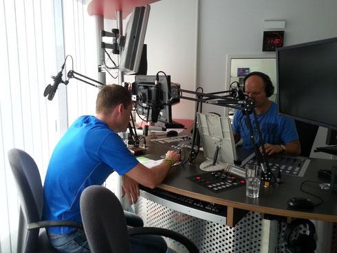 28.06.15 Christopher Kloß bei Radio KW um über seine Eindrücke beim 5. Zugspitz-Ultra-Trail zu berichten