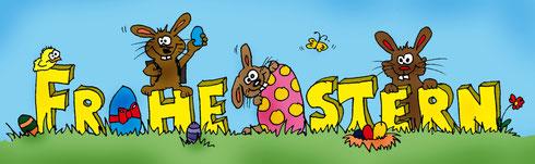 Wir wünschen Euch frohe Ostern, viel Sonnenschein, einen fleißigen Osterhasen und fröhliche Feiertage.