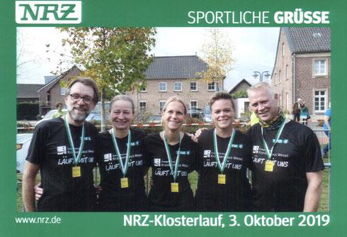 Die HADI's im NRZ Heimatlaufteam v.L. Hartmut, Claudia, Silke, Gaby und Dirk.