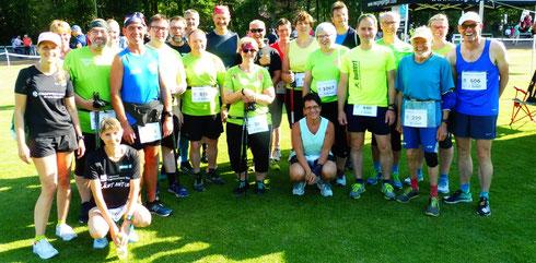 Beim Drevenacker Abendlauf am 5. Juli 2019 waren 65 HADI's mit den NRZ Heimatläufern und dem Spendenlaufteam am Start!
