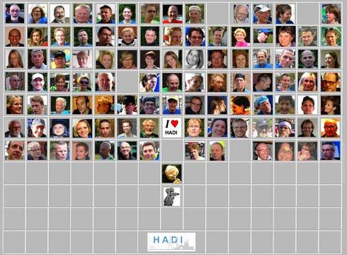 """Collage der HADIs mit Namen zum Kennenlernen,-- nicht nur für """"Neue"""" HADIs."""