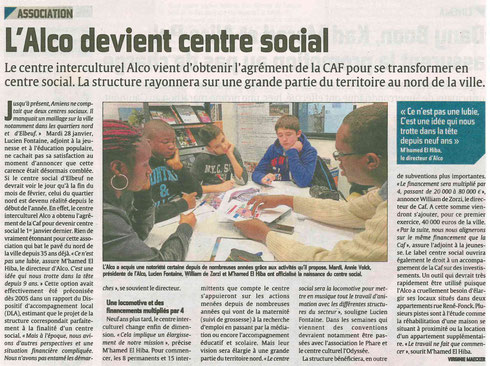 article courrier picard centre social alco