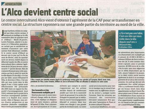 article courrier picard centre social alco