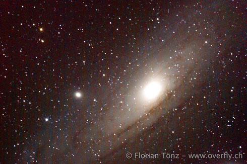 Andromedagalaxie (M31) | Belichtungszeit: 221s | ISO 3200 | Vals, Zervreila | 2. Januar 2014 23:35