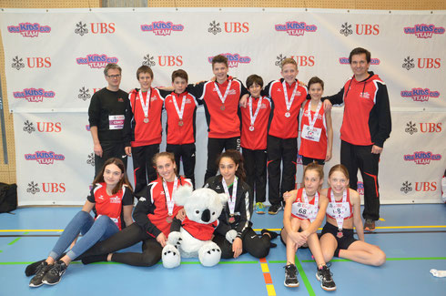 U16 Mixed Team 3. Rang und U14 Mixed Team 2. Rang
