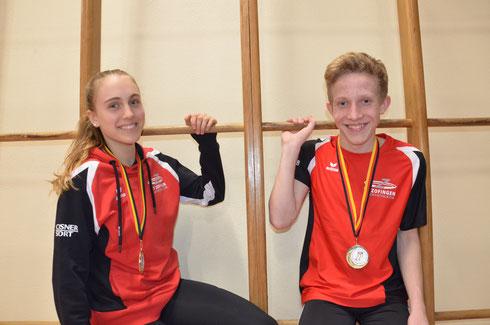 Goldmedaille für Ariana Brügger U16 und Justin Frei U14