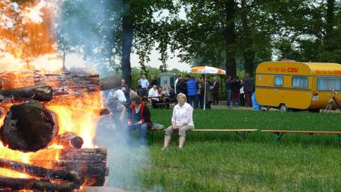 Das traditionelle Blocke-Poschen-Feuer der CDU fand auch diesmal wieder besonderen Anklang.