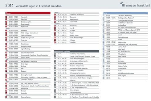 法兰克福展会 2014年日程安排 欧亚商旅