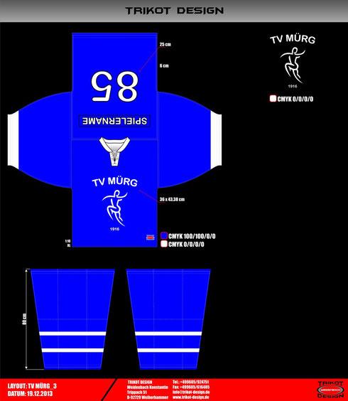"""Entwurf des zukünftigen Trikots des Eishockeyteams """"TV Mürg"""""""