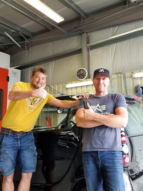 Armin und Hartmut nach getaner Arbeit