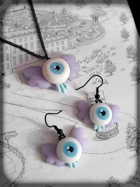 Creepy Cute Flying Eye Jewellery