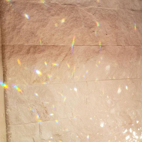 家でみつけた光のプリズム☆