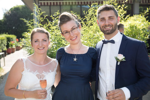 Traurednerin Stella Grammling bei einer wunderschönen Hochzeit im Moods in Heidelberg - Foto: Konrad Gös, Heidelfoto.