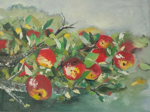 Apfelbaum 2015 Öl auf Leinwand 60 x 80m