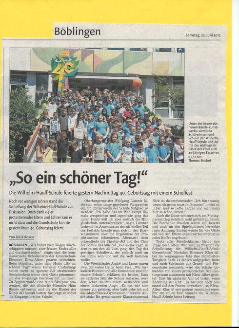 Bericht aus der Kreiszeitung