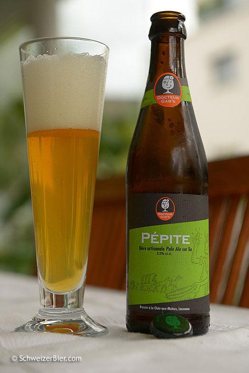 Bière artisanale - Pale Ale sur lie - Docteur Gab's Pepite