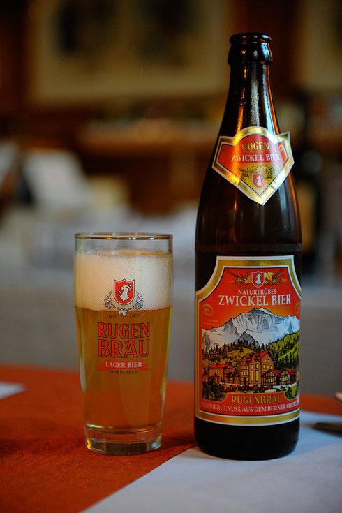 Rugenbräu aus Interlaken - Zwickel Bier