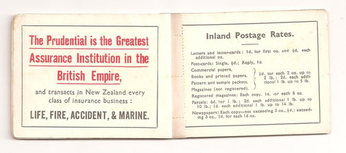 Current postal rates were included in the booklet.