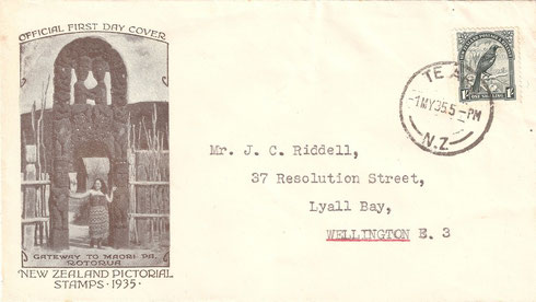 '1/- First day cover'