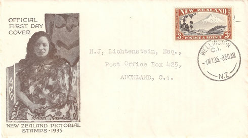 '3/- First day cover'