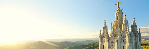 туры в Барселоне,  частные туры в Барселоне, индивидуальные экскурсии в Барселоне, русскоязычный гид по Барселоне, экскурсии по Барселоне с русскоязычным гидом, гора Тибидабо, парк Лабиринт, монастырь