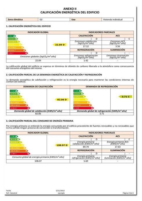 Anexo II. Calificacion energética del edificio.
