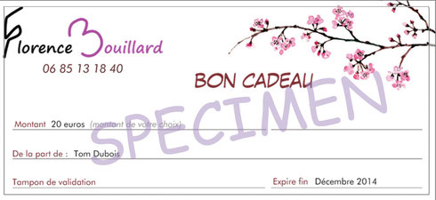 Bon cadeau Florence Bouillard