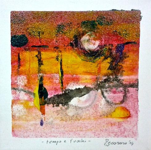 """""""tempo e fuochi"""", 2014 23,5 x 23,5 cm"""