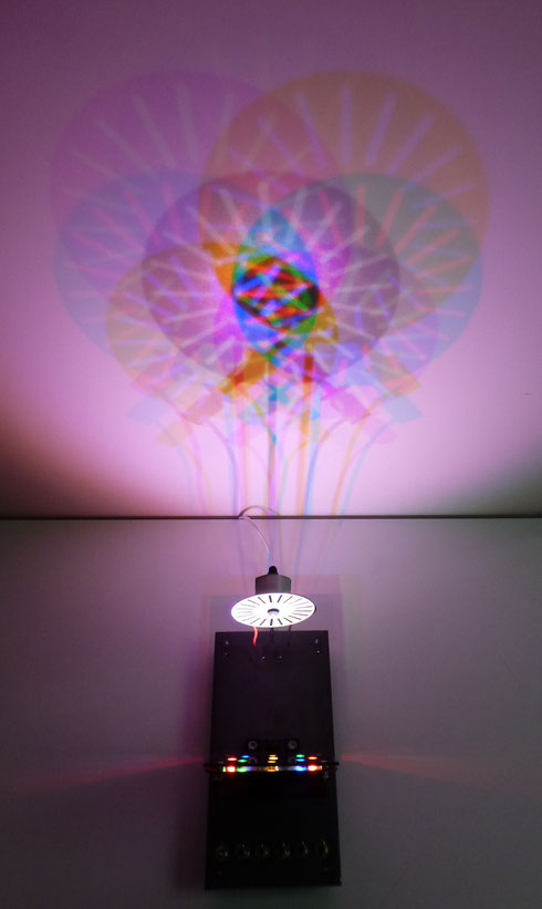 """Kinetic Light Flowers"" Konrad Wallmeier"