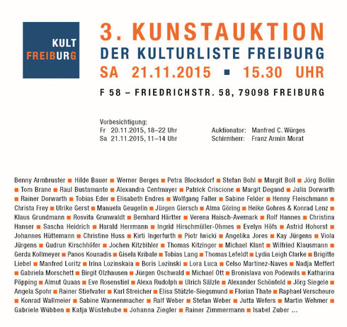 """Kunstauktion"" Konrad Wallmeier"