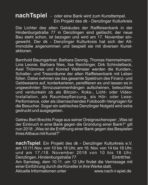 """nachTspiel"" Konrad Wallmeier"