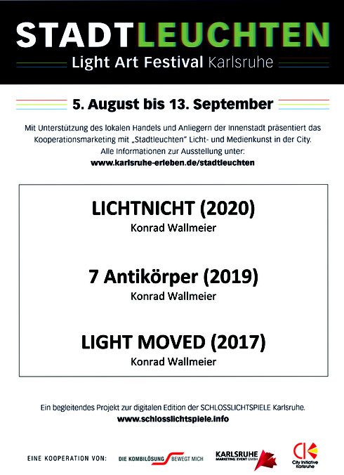 Light Art Festival Karlsruhe Konrad Wallmeier